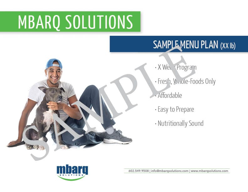 MBARQ Solutions Menu Plan Cover